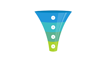 Funnel clipart PPT 4 step