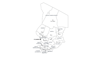 map of Chad PPT