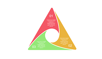 3 step triangle diagram for Keynote
