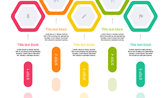 4 Step Creative color Diagram ppt