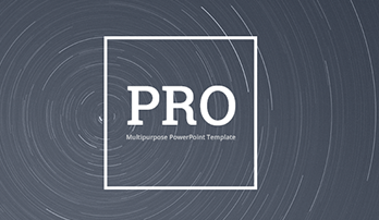 """PRO"" PowerPoint template"