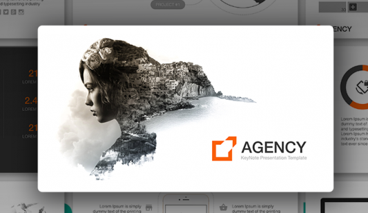 """Agency"" PowerPoint template"