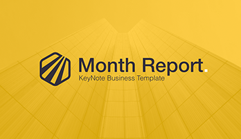Month report free Keynote template