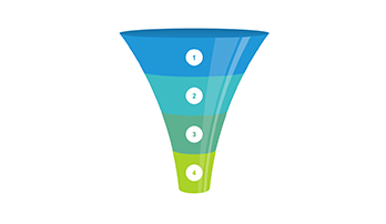 Funnel 4 step clipart