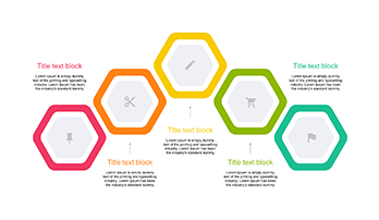 Hexagon Diagram 5 step for PowerPoint