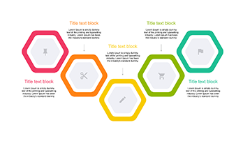 Hexagon timeline 5 step for key