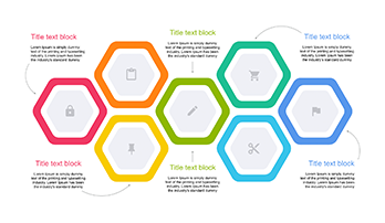 Hexagonal Diagram Design for PowerPoint