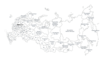 Russian Federation map Keynote