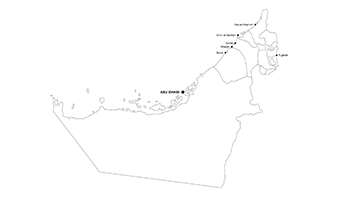 UAE city map key