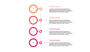 Vertical 4 step Timeline Design key