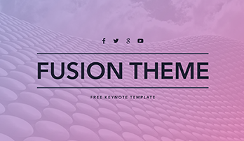 "Free Keynote template ""Fusion"""