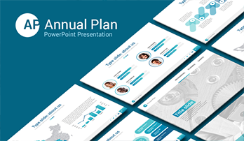 """Annual Plan"" PowerPoint template"