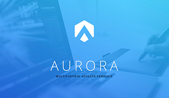"""Aurora"" free key template (blue)"