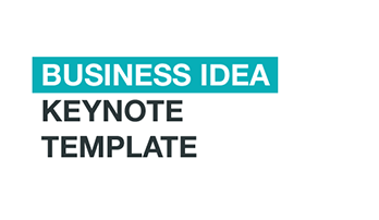 """Business Idea"" Keynote template"
