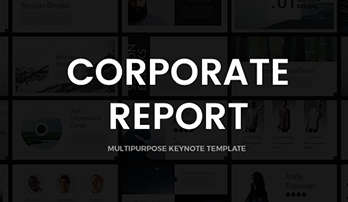 """Corporate Report"" Keynote template"