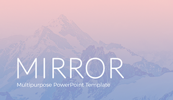 """Mirror"" PowerPoint template"