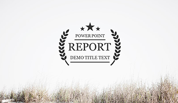 """Report"" PowerPoint template"
