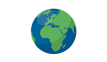 Globe PowerPoint Africa and Europe