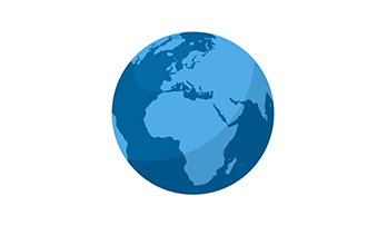 Globe Template Africa And Europe Ppt