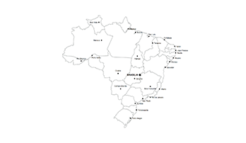 map of Brazil .key