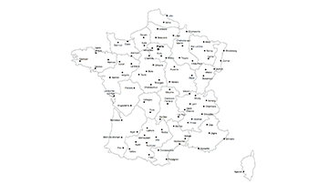 Keynote map of France