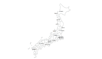 map of Japan key