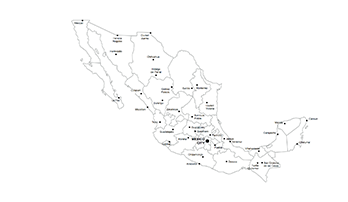 map of Mexico states for Keynote
