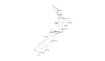 key map of New Zealand