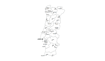 key map of Portugal