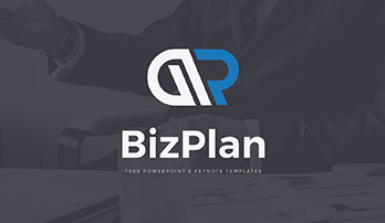 Biz Plan blue free PowerPoint template