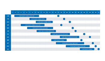 Gantt chart ppt template free download