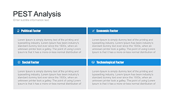 PEST analysis table