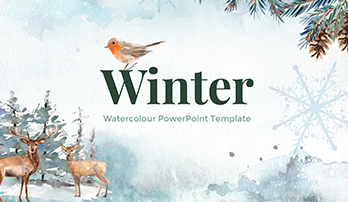 Winter watercolour PowerPoint template