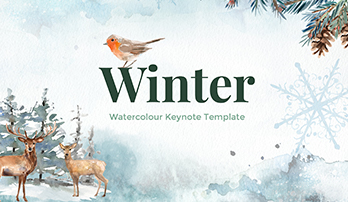 Winter watercolour Keynote template