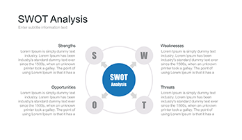 SWOT chart template for Keynote