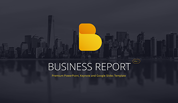 Business Report PowerPoint template vol. 1