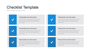 Presentation checklists