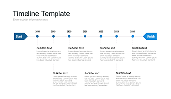 Visual timeline template