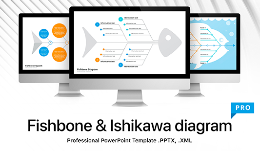 Fishbone diagram template for PowerPoint