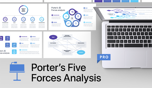 Porter five forces template Keynote