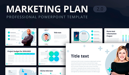 Digital marketing plan template PowerPoint