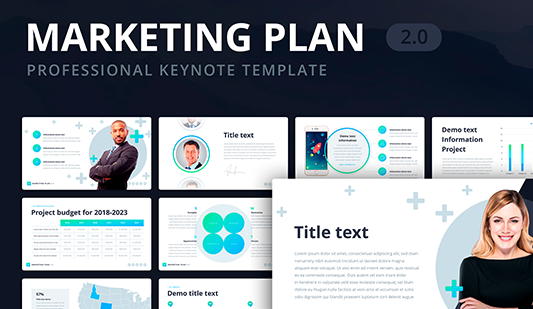 Digital marketing strategy template Keynote