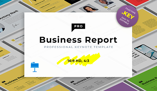 Annual business report template for Keynote
