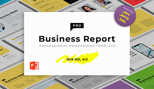 Business report PowerPoint presentation