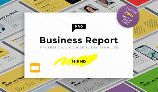 Business report template Google slides