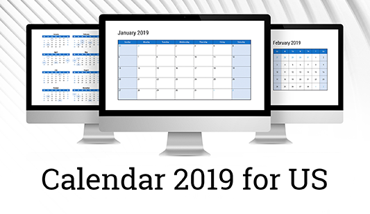 Calendar template 2019 for PowerPoint