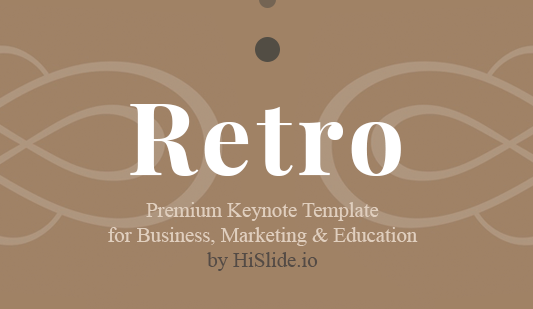 Free Retro templates for Keynote