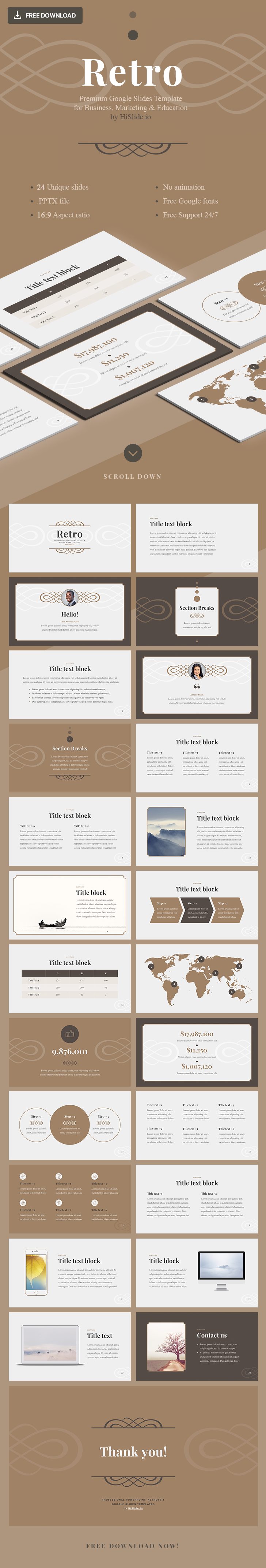 Retro-Google-Slides-Template-Free-Download