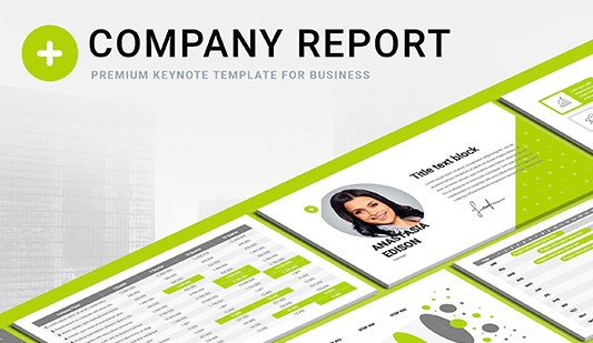 Company profile template Keynote