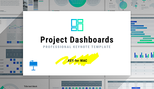 Project dashboard template Keynote